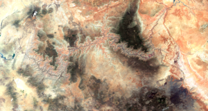 Satellite picture of Grand Canyon By Erthygy - Own work, CC BY-SA 4.0, https://commons.wikimedia.org/w/index.php?curid=66479110