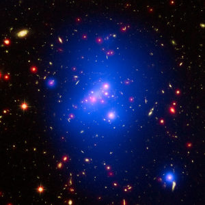 Galaxy cluster IDCS J1426 By ESA/Hubble, CC BY 4.0, https://commons.wikimedia.org/w/index.php?curid=46299179