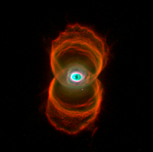 The Hourglass Nebula (MyCn18), a supernova remnant By NASA, R. Sahai, J. Trauger (JPL), and The WFPC2 Science Team - http://www.spacetelescope.org/images/opo9607a/, Public Domain, https://commons.wikimedia.org/w/index.php?curid=1849193